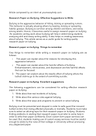 how to stop bullying at school essay   adorno essay on wagnerpersuasive essay on school bullying