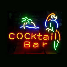 vegas neon sign night bar decor