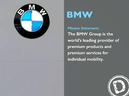 bmw mission statement the bmw
