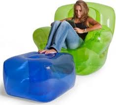 inflatable chair and ottoman blowup furniture