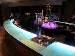 the glass bar top includes aqua clear glass thickness melting ice texture and led lighting bar top lighting
