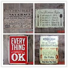 <b>20pcs</b> Poem Funny Family Life Kitchen Rule Quote Metal <b>Painting</b> ...