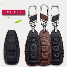 Online Shop <b>Genuine Leather</b> Men Women <b>Car</b> Key Case Cover ...