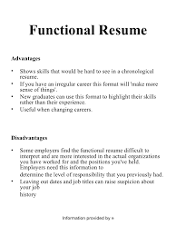 chronological and functional resume project      functional