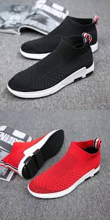 <b>Men</b> Flyknit Mesh Fabric <b>Breathable Sock</b> Trainers Sport Casual ...