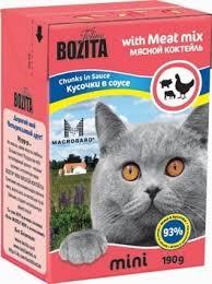 <b>Bozita mini pieces</b> in cat sauce-pulp cocktail 0,19 kg x 12 PCs ...