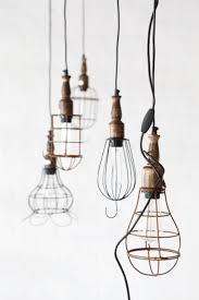 hanging from the ceiling cage pendant lighting