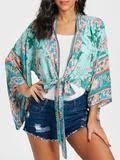 <b>Boho</b> Vintage Floral Print Short <b>Kimono Blouse</b> - <b>ChicBohoStyle</b> ...