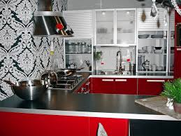 Wall Art Kitchen Decoration Fascinating Red Black White Kitchen Decor With Creative Wall Art