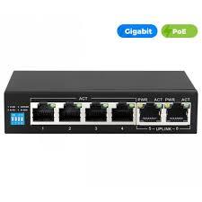 UltraLAN <b>4</b> Port 60W Gigabit Ethernet <b>AI PoE Switch</b> with 2 GE ...