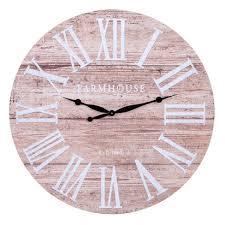 """30"""" Frameless Rustic <b>Wood Plank Wall Clock</b> Wood - Patton Wall ..."""
