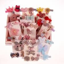 <b>5PCS</b>/<b>set</b> girls Cartoon <b>hair clips flower</b> bow Barrettes <b>hairpins</b> ...