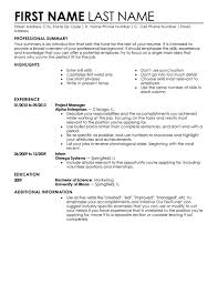 chronological resume template download new graduate resume    resume templates format  de