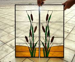 stained glass cabinet doors table accents cooktops