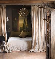 ideas studio apartment  place a curtain around the bed