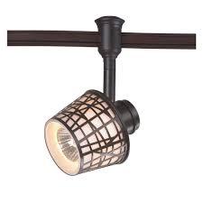 commercial electric 1 light bronze convertible basket flexible track lighting black linear track lighting