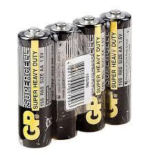 <b>Батарейка</b> солевая <b>GP</b> АА <b>набор</b> 4 шт. <b>GP</b> 15SR6/AA-OS4 арт ...