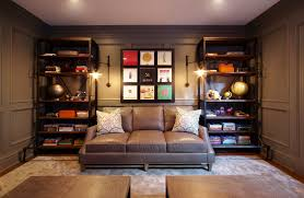 awesome gray leather sofa decorating ideas for home office transitional design ideas with awesome antique desk armchair awesome images home office