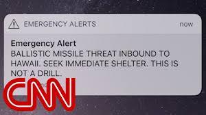 Hawaii gets false missile strike alert - YouTube
