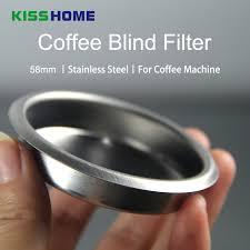 <b>58MM</b> Coffee Machine Blank Filter Stainless Steel Backwash ...