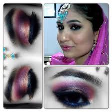 pink gold indian bridal makeup tutorial