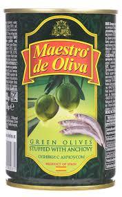 <b>Maestro de Oliva оливки</b> с анчоусом, 300 г 0710084, код ...