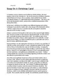 an essay on a christmas carol i will discuss how dickens uses  page  zoom in