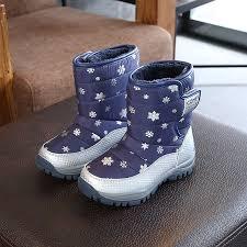 <b>ULKNN Children's snow boots</b> boys and girls Winter warm black ...
