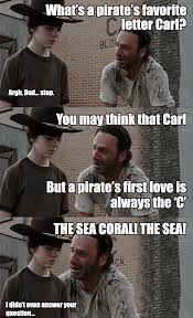 THE SEA CORAL! THE SEA! | Carl! | Know Your Meme via Relatably.com
