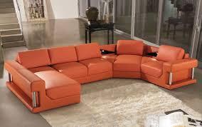 orange leather sofa b modern orange leather sectional sofa furniture burnt orange furniture