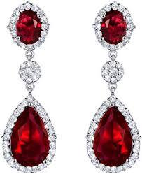 SELOVO Women's Luxury Red Orange Color CZ ... - Amazon.com