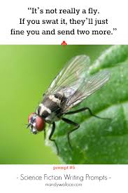 58 science fiction writing prompts mandy wallace it s not really a fly if you swat it they ll just