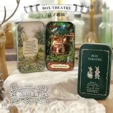 forest rhapsody box theatre diy mini doll house 3d miniature colored lightsmetal boxdollswooden supportfurnitures decoration aliexpresscom buy 112 diy miniature doll house