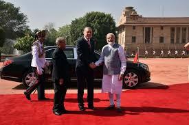 Cumhurbaşkanı Erdoğan Hindistan'da resmi törenle karşılandı