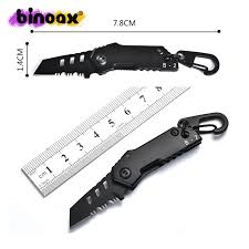 Mini <b>Portable Multi Function</b> EDC <b>Folding Knife</b> Toothed Blade ...