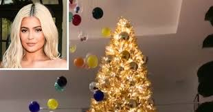 Kylie Jenner Shows Off Her 20-Foot, <b>Gold Christmas</b> Tree