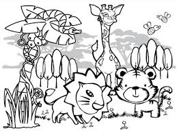 Small Picture Free Printable Coloring Pages Of Jungle Animals Aquadisocom