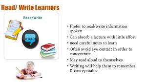 Image result for read write learning style VARK