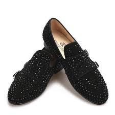 Suede Black Rhinestone <b>Loafers</b> in 2019 | <b>MEN'S SHOES</b> | <b>Shoes</b> ...