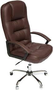 Купить <b>кресло</b> и стул <b>Tetchair СН9944</b>, <b>хром</b>/коричневый по ...