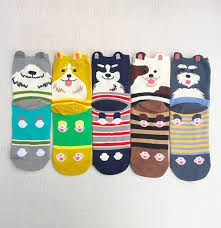5 Pairs Womens Animal Socks <b>Cute</b> Funny <b>Cotton</b> Ladies Socks for ...