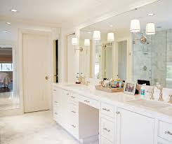 lighted vanity mirror bathroom traditional with his and her sinks jack and jill bathroom lighting ideas dress mirror
