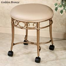 image quarter bamboo bathroom stool vanity tray flare back powder finish vanity chair nickel lecia vanity