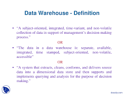 data warehouse definition data warehouse lecture slides this is only a preview