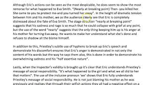 how to write an a essay on eric in an inspector calls thanks how to write an a essay on eric in an inspector calls thanks science fanatic