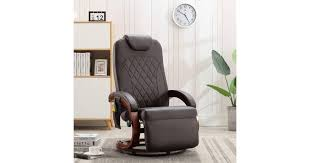 TV Massage Recliner Brown Faux Leather | Massage ... - Dick Smith