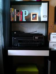 awesome ikea micke desk in black with white drawer and hutch for study room furniture ideas chic ikea micke desk white