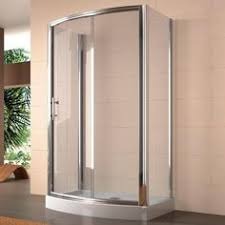bathroom quot mission linen: quot x quot rectangular freestanding shower enclosure with curved front