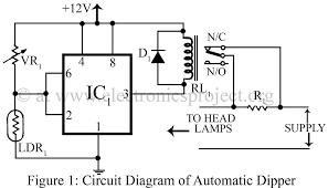 circuit diagram of automatic dipper   electronics projectcircuit diagram of automatic dipper