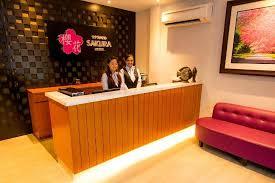 sakura boutique hotel reception counter boutique reception counter